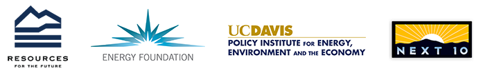 The Energy Foundation, Resources for the Future, and the University of California, Davis