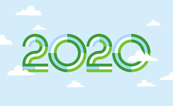 2020 year illustration - option 2