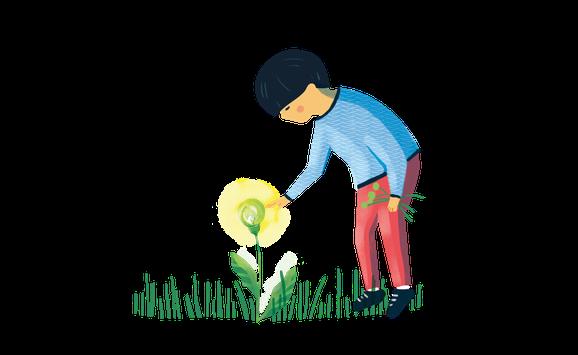 40 Big Ideas_green light bulb illustration