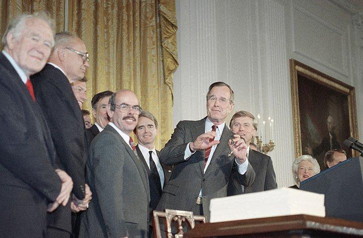 H.W. Bush signed an amendment to the Clean Air Act