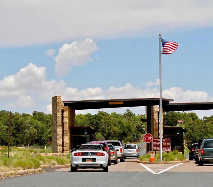 Entrance to Grand Canyon National Park