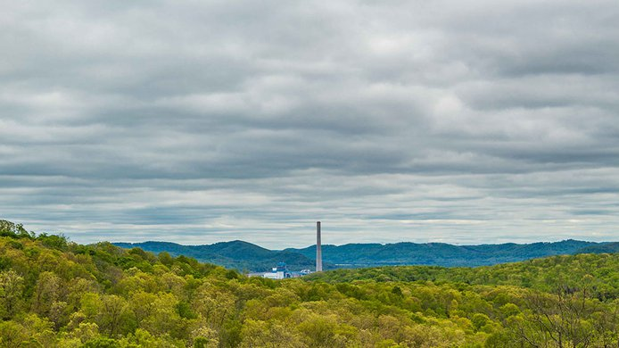 Coal fired plant Appalachian
