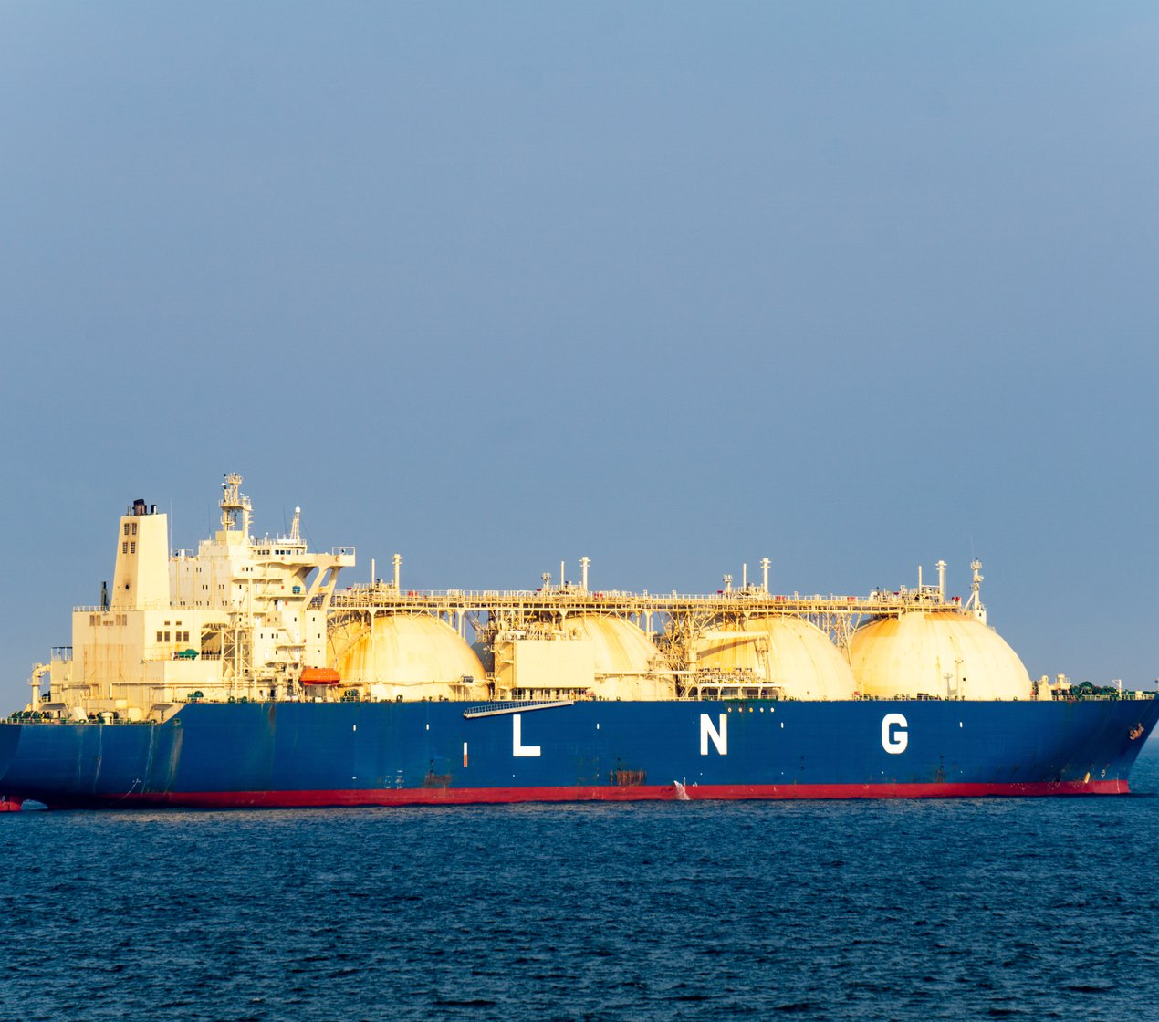 Liquified Natural Gas Boat