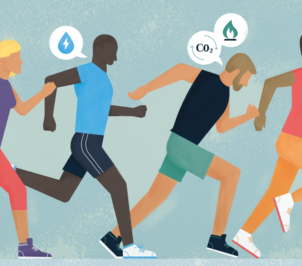 Technology-inclusive approach_Richard Newell_Runners illustration