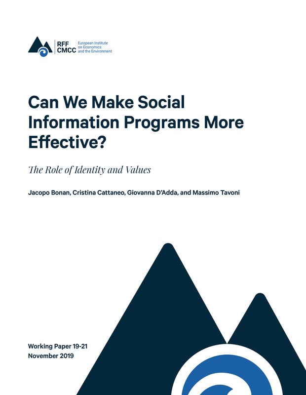 Can we make social information programs more effective?  The role of identity and values