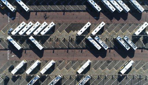 shutterstock_1022514238 - aerial bus depot