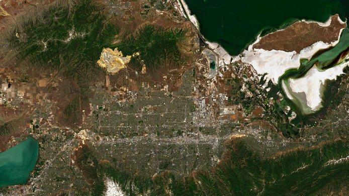 satellite image lake
