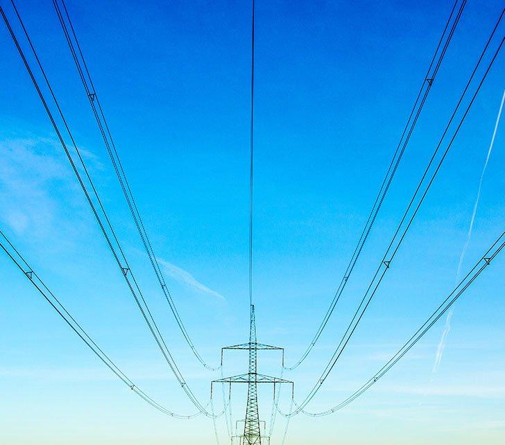 blue sky pylon