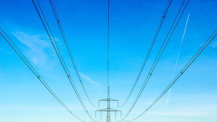 blue sky pylon