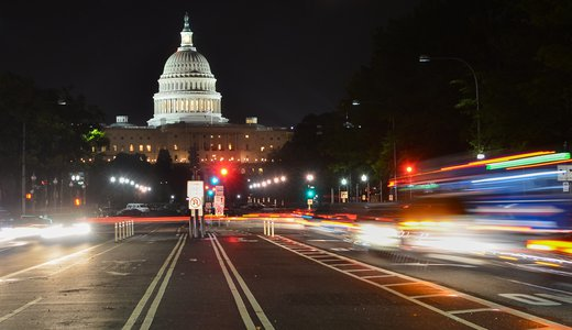 capitol building night