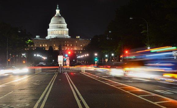 capitol building night