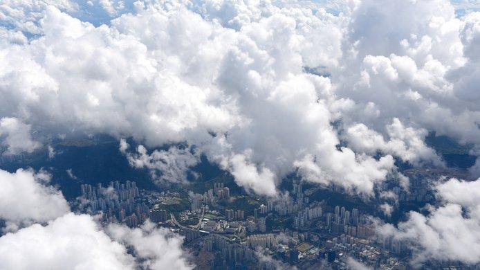 clouds city