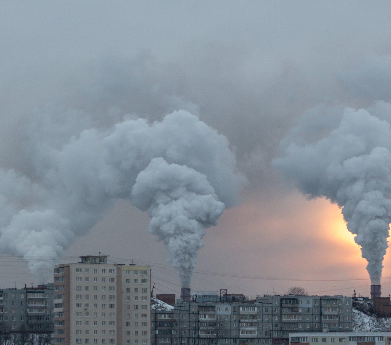 Factory smoke, sky